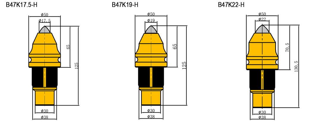 B47K22-H Bullet Teeth