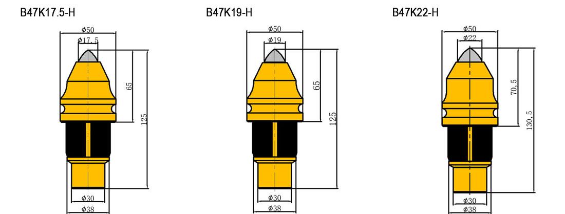 B47K25-H Bullet Teeth